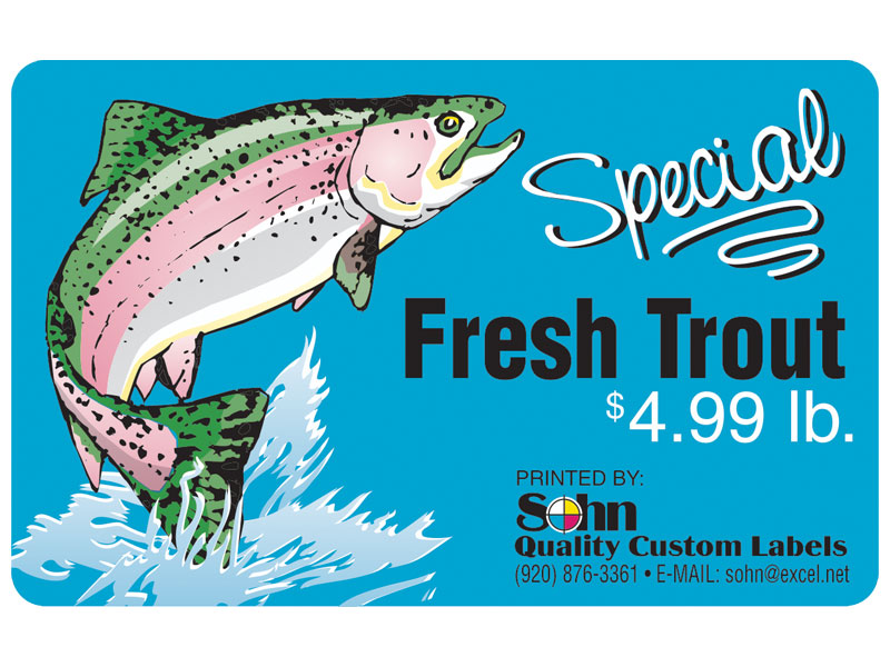 Special Fresh Trout Label