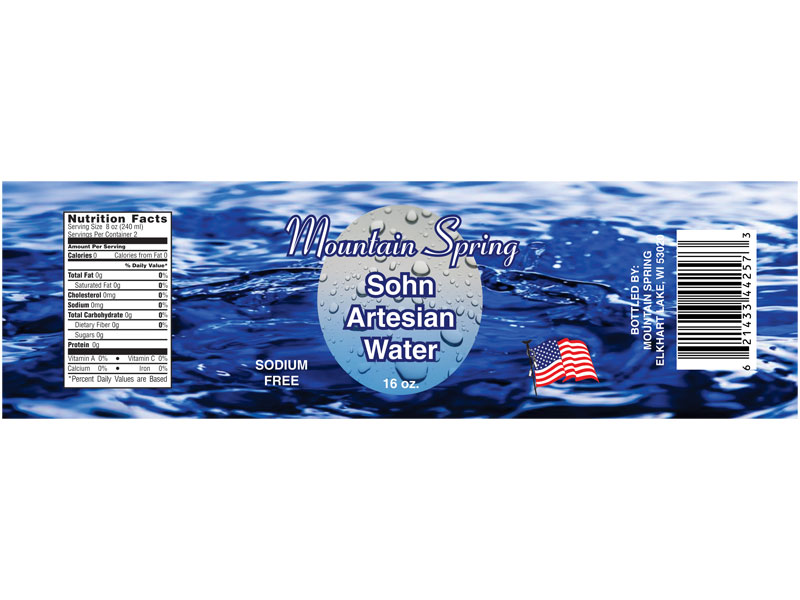 Mountain Spring Sohn Artesian Water